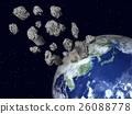 地球的图像(小行星,陨石,宇宙尘埃)等 26088778