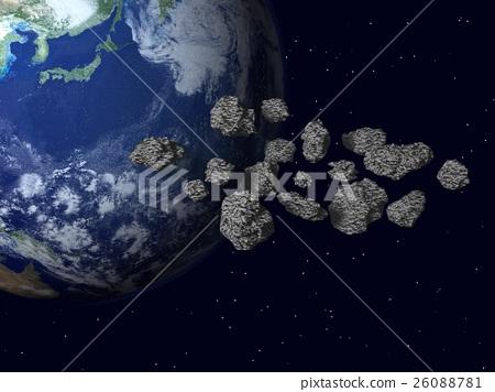 地球的图像(小行星,陨石,宇宙尘埃)等 26088781