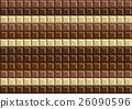 Dark and white chocolate bar background texture 26090596