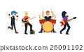 Cartoon Rock Band. Vector 26091192