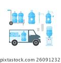 水 瓶子 購物車 26091232