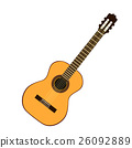 Classic yellow guitar 26092889
