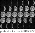 Moon 30 day phases 26097922