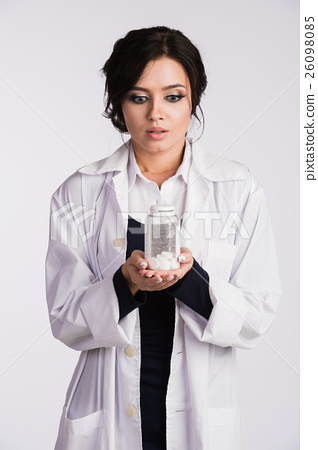 Beautiful young brunette female nurse or physician 26098085