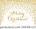 Gold confetti Christmas card 26098123