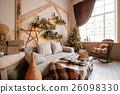 Calm image of interior modern home living room 26098330
