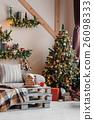 Calm image of interior modern home living room 26098333