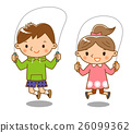 跳繩 孩子 小孩 26099362
