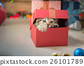 kitten playing in a gift box 26101789