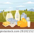 牛奶 食物 食品 26102152