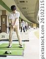 高爾夫 運動 未裝飾的混凝土牆 26102315