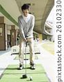 高爾夫 運動 未裝飾的混凝土牆 26102330