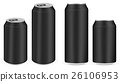 black aluminium soft drink cans vector 26106953