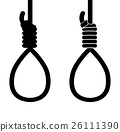 suicide hang rope icon sign 26111390