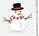 cute christmas snowman vector 26111654
