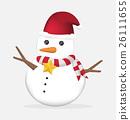 cute christmas snowman vector 26111655