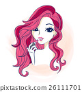 cartoon woman make up 26111701