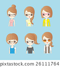 cartoon wear different glasses 26111764