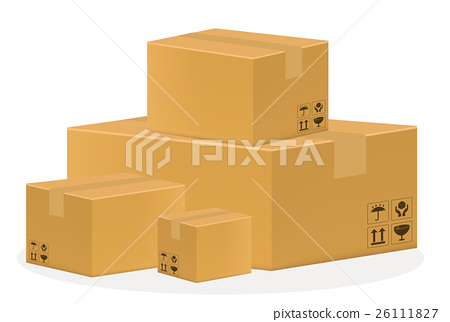 a brown cardboard box 26111827