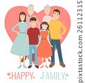 family vector portrait 26112315