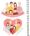 family, vector, portrait 26112323