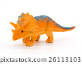 Triceratops toy model on white background 26113103