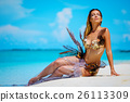 Portrait of exotic fantasy mermaid on the beach 26113309