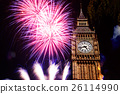 building, clock, firework 26114990