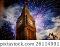 building, clock, firework 26114991