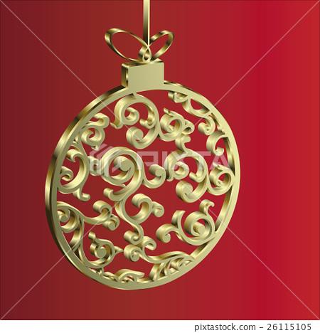 Christmas ball gold 26115105