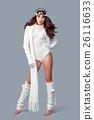 Beautiful winter fashion model. Studio shoot 26116633