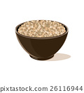 bowl full of brown lentils 26116944