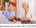Female pensioners with public notary 26119208