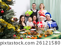 Big family celebrating Merry Christmas 26121580