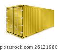 Cargo container vector 26121980