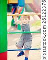 two-year child at playground 26122376