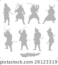 samurai, japanese warrior, silhouette 26123319