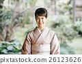 日式服装 开怀笑 咧嘴笑 26123626