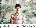日式服装 开怀笑 咧嘴笑 26123627