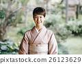 日式服装 开怀笑 咧嘴笑 26123629