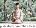 穿著和服 日式服裝 和服 26123637