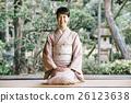 日式服装 开怀笑 咧嘴笑 26123638