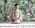 穿著和服 日式服裝 和服 26123639