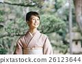 日式服装 开怀笑 咧嘴笑 26123644