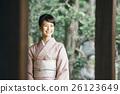 日式服装 开怀笑 咧嘴笑 26123649
