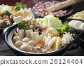 chankonabe, chanko stew, pot of chicken or seafood 26124464