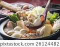 chankonabe, chanko stew, pot of chicken or seafood 26124482