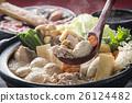 相撲燉 燉湯 魚湯和蔬菜 26124482
