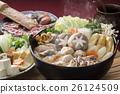 相撲燉 魚湯和蔬菜 雞肉或海鮮鍋 26124509