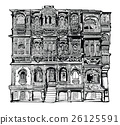 Facade of old house in Jodhpur, India 26125591